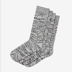NEW Express Marled Ribbed Sweater Socks 2 Pack